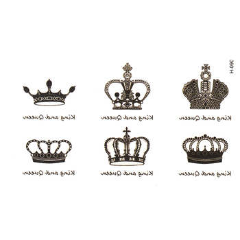 hot sale  crown Temporary Tattoo tatoos simulation alphabetical waterproof men and women tattoo stickers to cover  scar tattoo