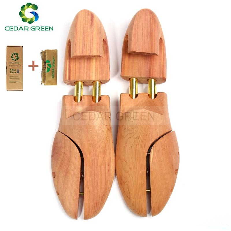 CedarGreen Men's And Women's Shoe Trees Twin Tube Adjustable Red Cedar Wood Shoe Tree