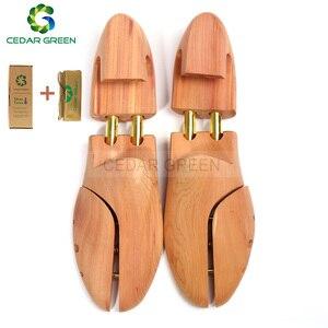 CedarGreen arbre à chaussures double Tube réglable | Arbre à chaussures en bois de cèdre rouge pour hommes et femmes