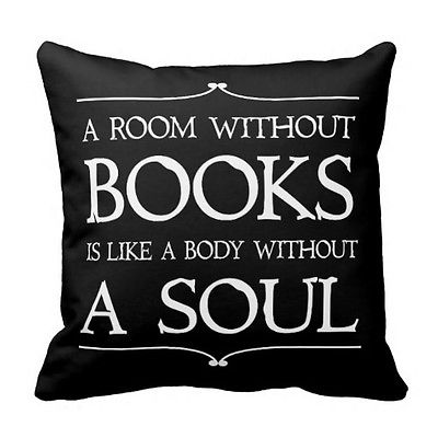 Pillow Quotes Enchanting Letter Book Quote Cushion Cover A Room Without Books Quotes Throw