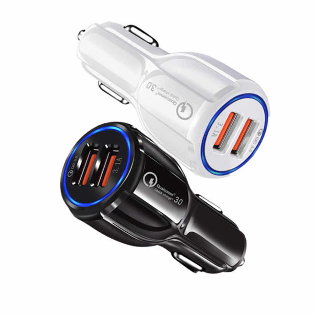 ORUICQ سيارة سريعة تهمة QC 3.0 الهاتف المحمول شاحن 2 منفذ USB سريع شاحن سيارة لسامسونج Xiaomi باد سوني قرص شاحن سيارة