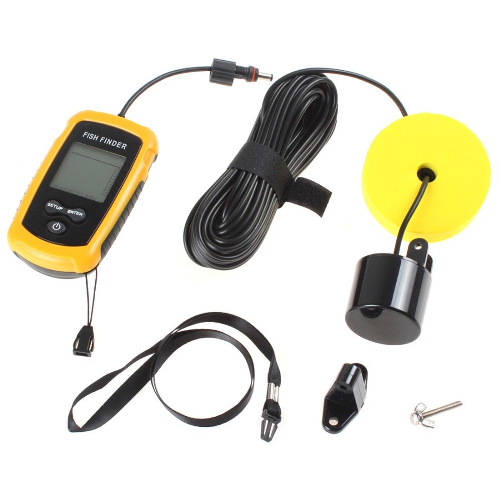 Sonar fish finder waterproof wireless fishfinder for boat for Ice fishing fish finder
