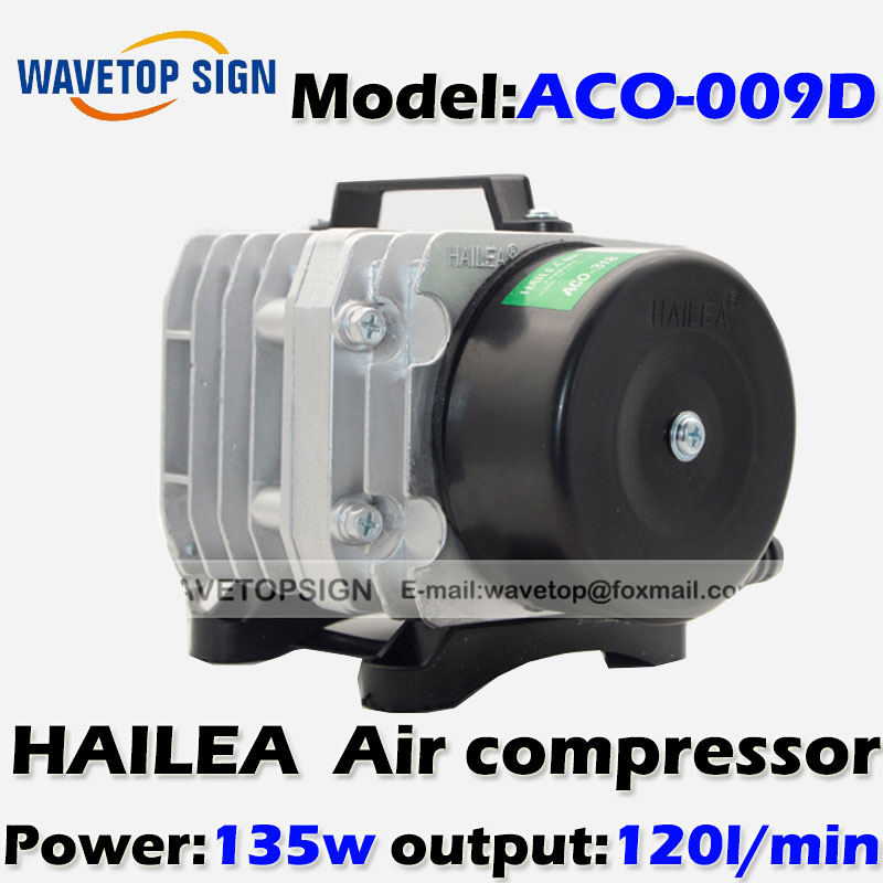 135W Air Compressor Electrical Magnetic Air Pump for CO2 Laser Engraving Cutting Machine ACO-009D 13mm male thread pressure relief valve for air compressor