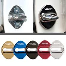 Стильный Автомобильный Дверной замок для Toyota yaris 2004 2008 защитные и декоративные автомобильные аксессуары наклейка