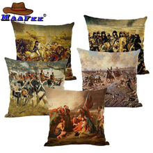 Neoclassicism Home Decorative Cushion Cover Napoleon Oil Painting Sofa Throw Pillow Case Car Seat