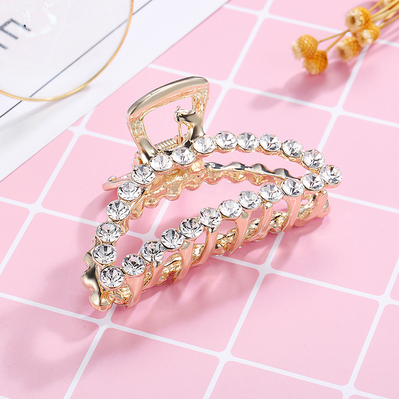 CHIMERA Rhinestone Hair Claw Metal Crab Clips for Women Trendy Crystal Barrettes Clamp Hairpins Fashion Hair Jewelry Accessories