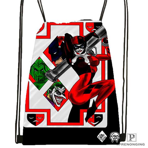 Custom joker batman card 1 Drawstring Backpack Bag Cute Daypack Kids Satchel Black Back 31x40cm 2018612