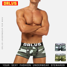 ORLVS Brand Men Boxers Male Underpants Breathable Cotton Breathable Co