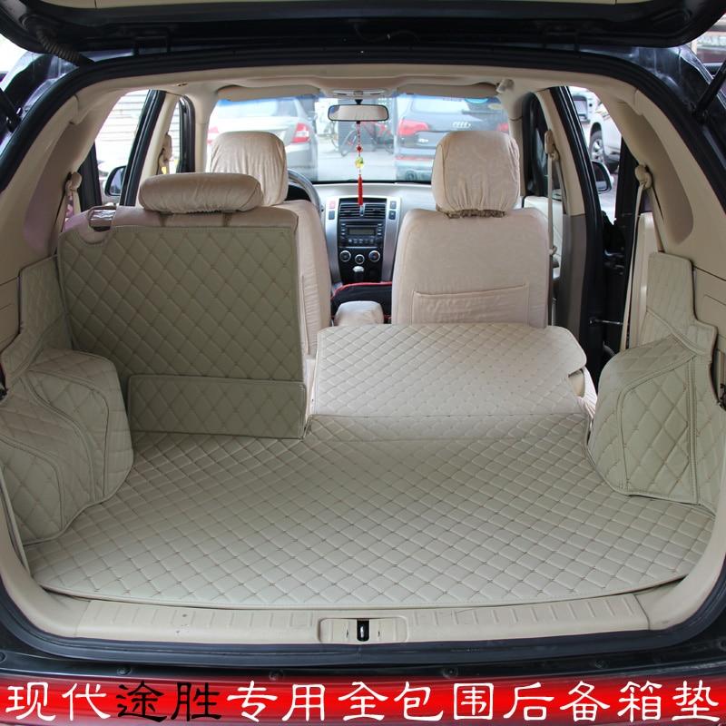 Custom fit car trunk mat for Hyundai tucson ix35 2009 2010 2011 2012 2013 2014 2015 3D car styling carpet cargo liner car rear trunk security shield shade cargo cover for hyundai tucson 2006 2007 2008 2009 2010 2011 2012 2013 2014 black beige