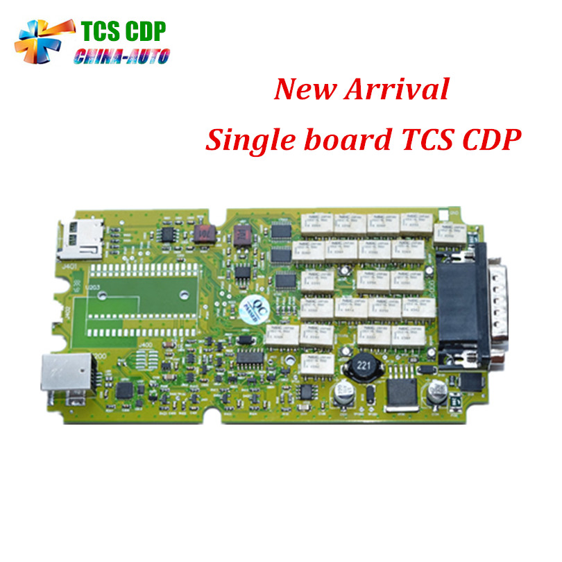10pcs/lot A++ Quality Green Single Board TCS CDP PRO 2014 R2/2015.1 No Bluetooth OBD2 Scanner With LED 3 IN1 Car Diagnostic-Tool multi language professional diagnostic scanner same function as tcs cdp plus scanner multidiag pro tf card bluetooth v2015 3