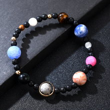 Charm Solar System 9 Planets Universe Stars Men Natural Stones Beaded Galaxy Strand Bracelets For Women Saturn Pluto Earth Moon