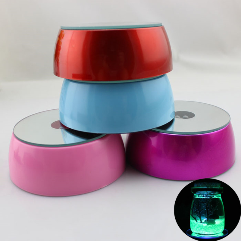 Upgrade 3led Multicolor Pool Light Stand Base Display KTV Restaurant Creative Table Mat Cup Holder Lantern Lamp Holder