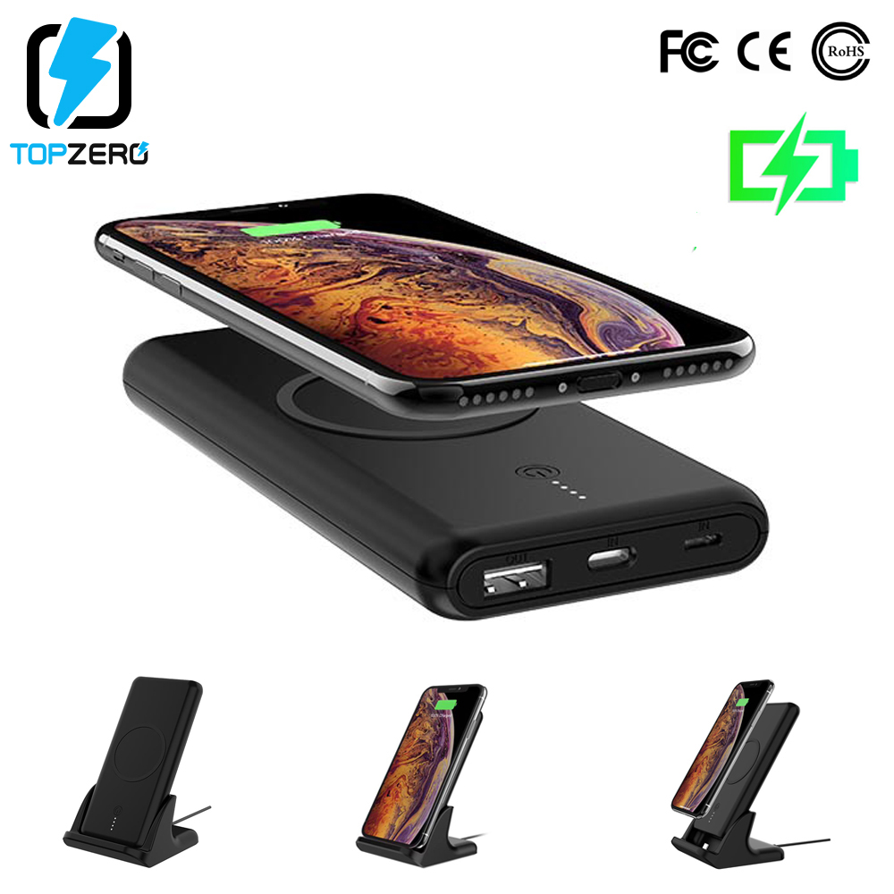 10000mAh QI Wireless Charger Power Bank For iPhone Type C External Battery USB Fast Charging Powerbank For Sumsang Huawei Xiaomi10000mAh QI Wireless Charger Power Bank For iPhone Type C External Battery USB Fast Charging Powerbank For Sumsang Huawei Xiaomi