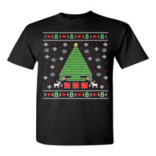 Men Fashion Periodic Tree Table Of Elements Science Ugly Christmas Novelty Tee Free Shipping