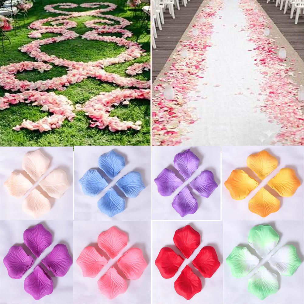 Clearance Erosebridal 5.5CM*5.5CM Rose Petals For Wedding Party 1000pcs/Pack 11 Colors