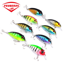 1PC Mini Crankbait Fishing Lures Bait 75mm/9.6g Sea Saltwater Wobblers Trolling Bass Sound Rock Artificial Small