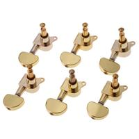 3L 3R 6 Tuning Pegs Gold Acoustic Guitar Machine Heads Knobs Guitar String Tuning Peg Tuner