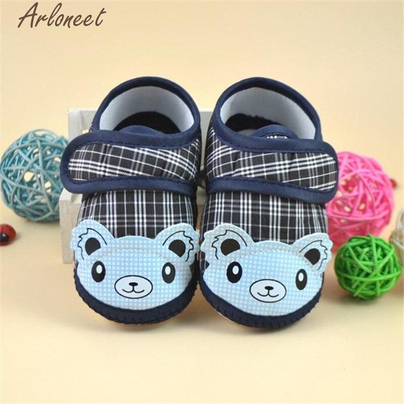 ARLONEET Newborn Girl Boy Soft Sole Crib Toddler Shoes Canvas Sneaker