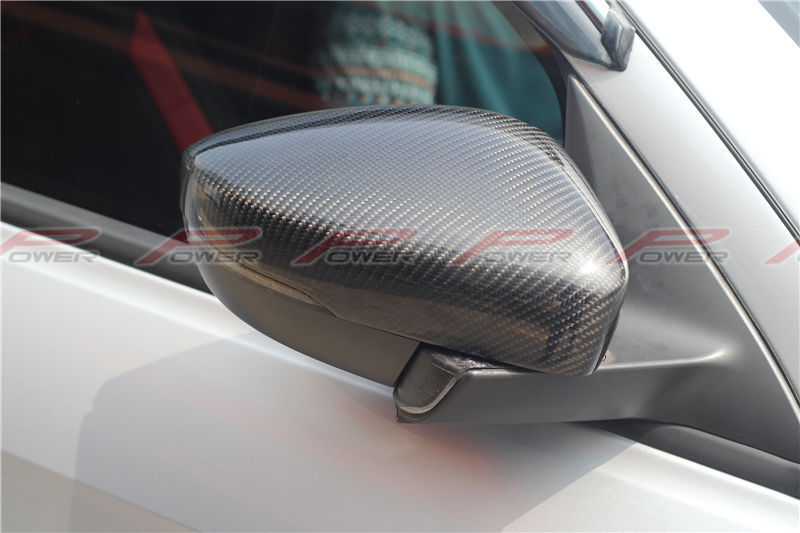 For VW Volkswagen Polo 2009 2010 2011 2012 2013 2014 With Tunig Led Carbon Fiber Rear View Mirror Cover Replacemnet Style car rear trunk security shield shade cargo cover for kia sportag 2007 2008 2009 2010 2011 2012 2013 black beige
