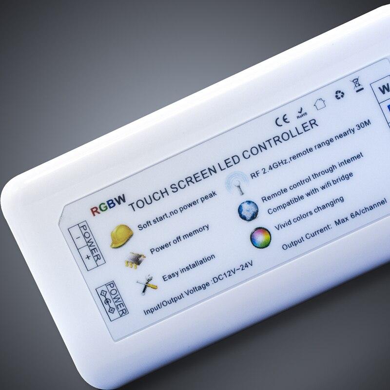 47fae26b51e 2.4G 4-Zone RGBW controle remoto DC12V-24 V RF controlador de faixa de cor  compatível com Milight Lâmpada e levou tira