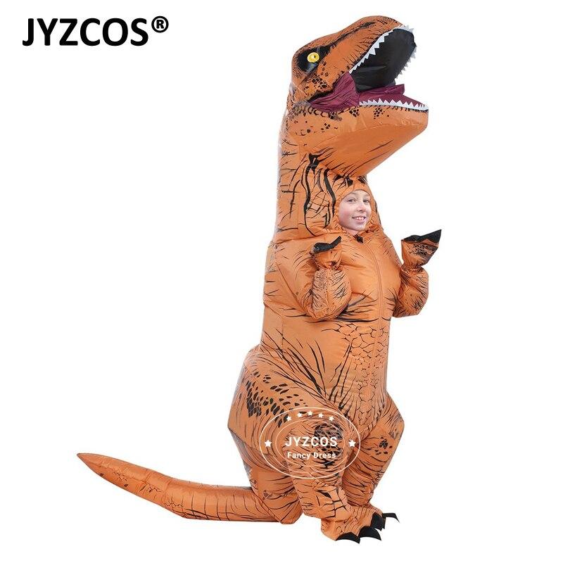 JYZCOS Kid Aufblasbare kostüm Dinosaurier Kostüm Dino cartoon zeichen phantasie kleid T-Rex Kostüm Blow Up tier maskottchen Cosplay