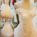 Sexy Off Shoulder vestido de noiva Wedding Dress 2017 Real Images V-neck Embroidery Lace Crystal Bridal Gowns Wedding Dresses