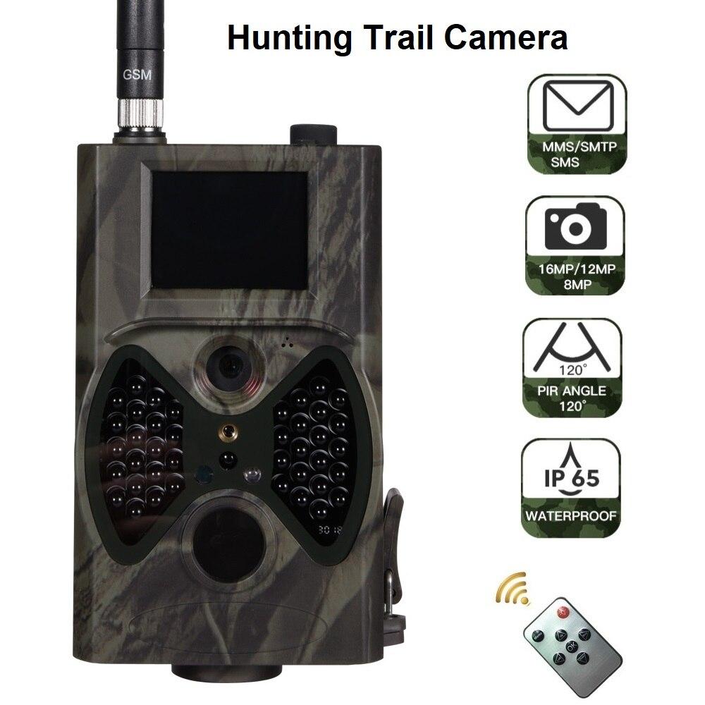 HC-300M 16MP MMS/Email 1080 P caméra de faune IR nuit vidéo chasse piste caméra HC300M 100 degrés 65 pieds CE ROHS FCC approbation