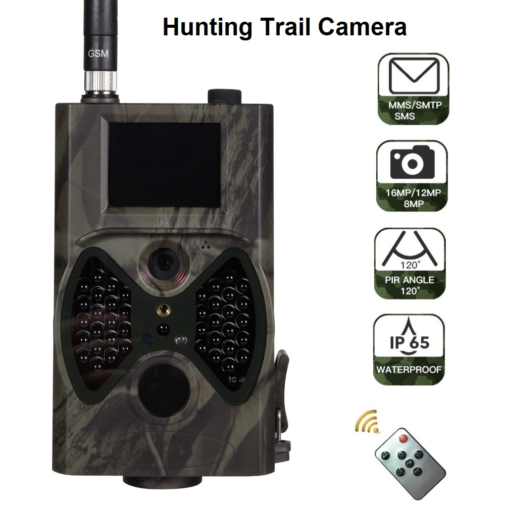 HC-300M 16MP MMS/Email 1080P Wildlife Camera IR Night Video Hunting Trail Camera HC300M 100 degrees 65feet CE ROHS FCC approval