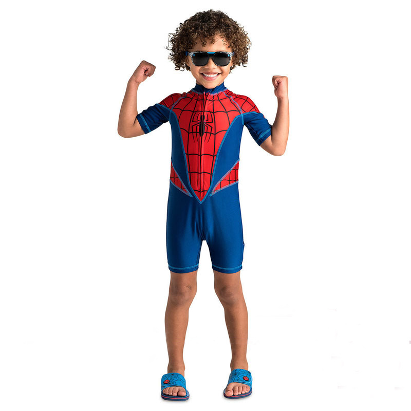 Anime cospaly Spiderman costume Boy Spiderman cosplay costume Unique Spiderman Swimsuit for KIDS halloween costume for Kids.