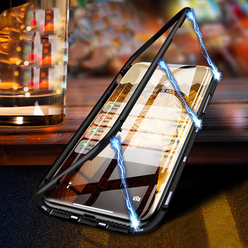 360 Magnetic Case For iPhone XS Max iphone 7 8 Plus XS Case 8 Clear Glass Back Cover For iphone 6 6s plus iphone XR X 10 Coque