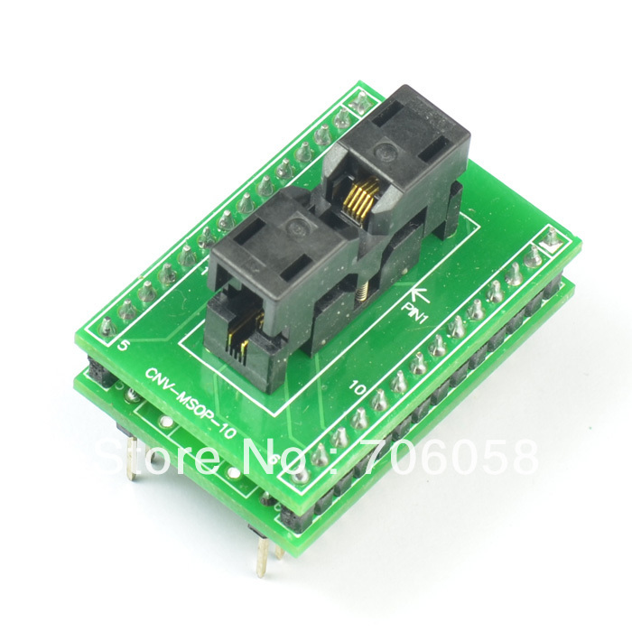 MSOP10 TO DIP10 IC Socket Programmer Adapter/Converter CNV-MSOP-10 Made in Japan maxitoys подушка с ручками