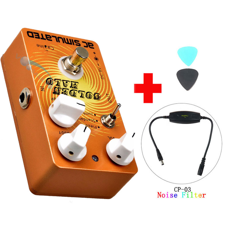 Caline CP-35 AC SIMULATED Guitar Effects Pedals with True Bypass Acoustic Effects Guitars and Caline CP-03 Noise Filter caline cp 35 ac simulated guitar effects pedals with true bypass acoustic effects guitars and caline cp 03 noise filter