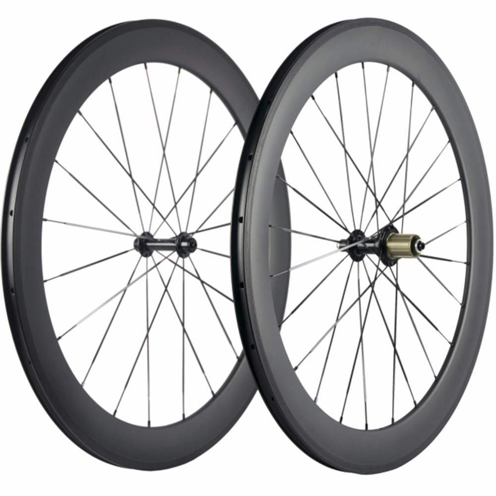 700C Carbon Wheels 38 50 60 88mm Road Bike Cycle Wheelset Basalt Braking Surface Super Light