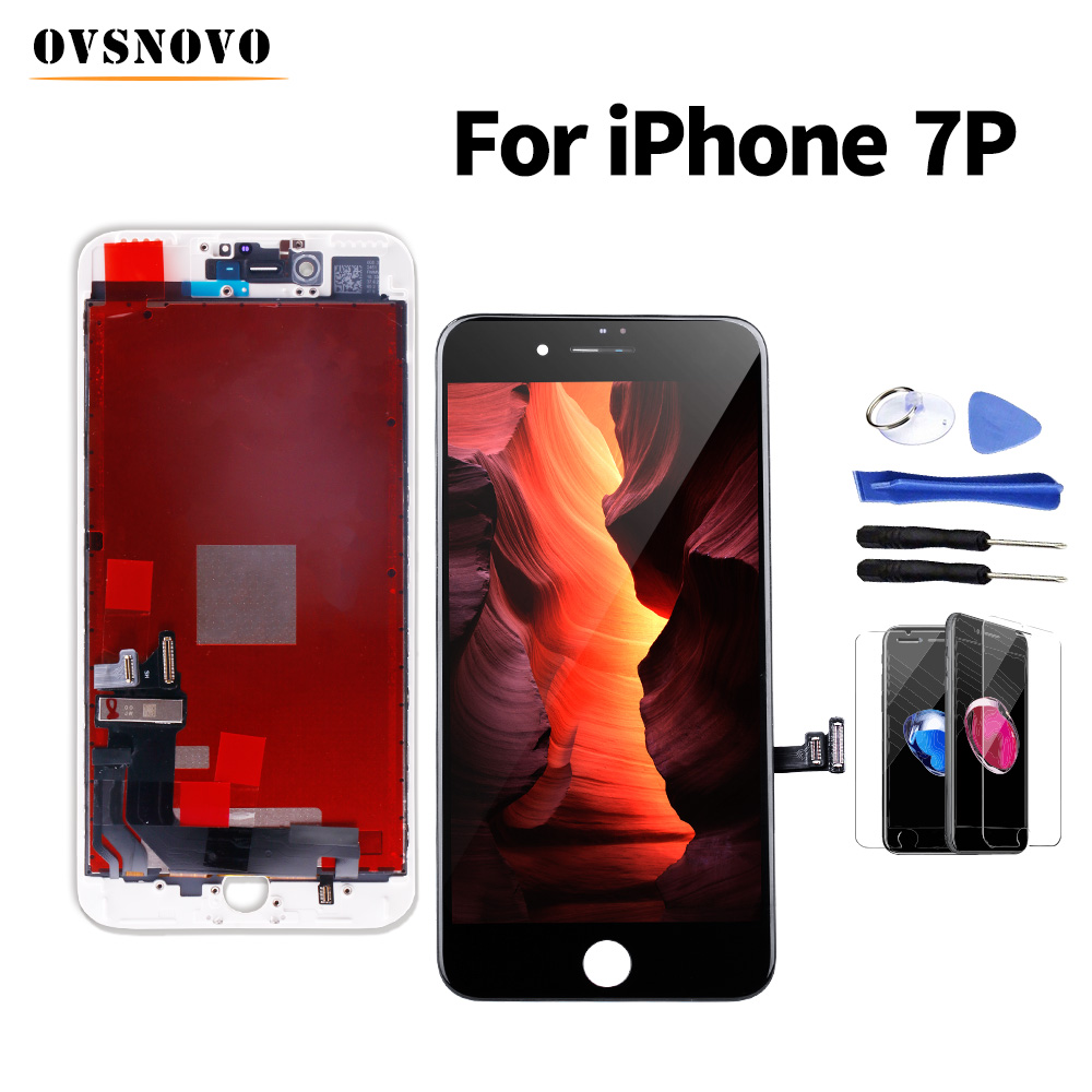 Fast delivery <font><b>ecran</b></font> For <font><b>iPhone</b></font> 7 plus <font><b>lcd</b></font> Display Screen Replacement Digitizer Assembly+Glass Protector&Tool Black/White No Spot image