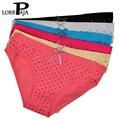 Lobbpaja marca atacado lote 12 pcs mulheres underwear sexy calcinha de algodão bonito bolinhas cuecas femininas calcinhas das senhoras lingerie