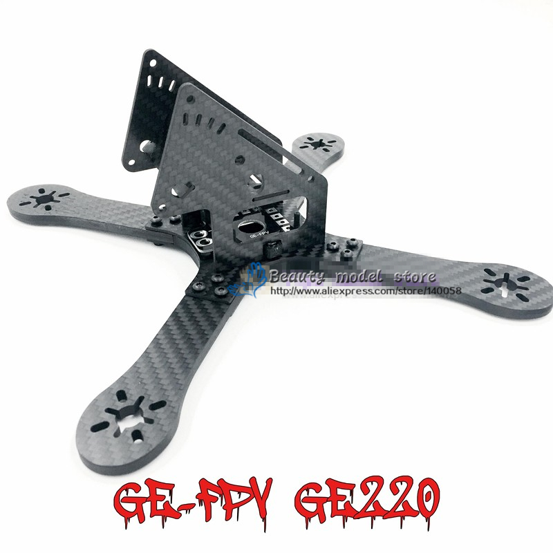 DIY mini drone pure carbon fiber quadcopter frame GE 200 4-Axis Carbon Fiber The frame body GE220 monster eft diy 10l agriculture spray quadcopter drone 1300mm annular folding pure carbon fiber frame model a and model b