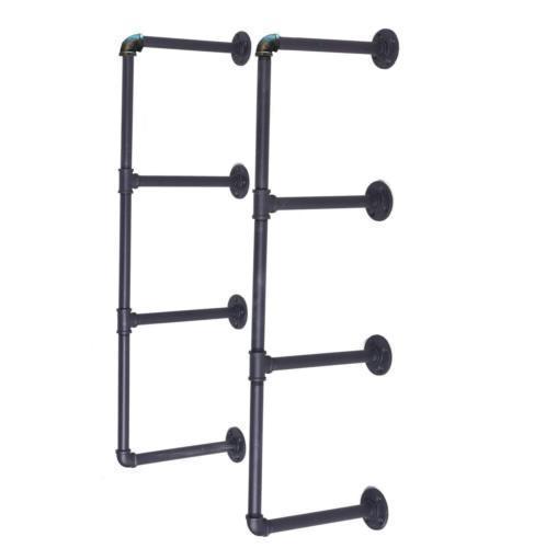 Здесь можно купить  3 Tier Shelf Industrial Furniture Wall Shelf Bracket Hanging Storage Shelves Iron Pipe Black DIY Pipe Shelves  Мебель