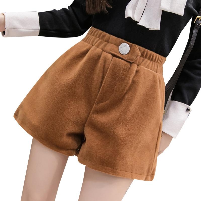 New Autumn Women Casual   Shorts   Korean High Waist Loose   Shorts   Female Khaki/Black   Shorts