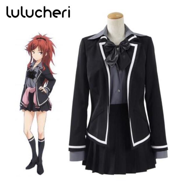 335c3841825d8 Qualidea Code Asuha Chigusa Cosplay Costume Black School Uniform with  Holster Halloween Party Dress for Woman Girls