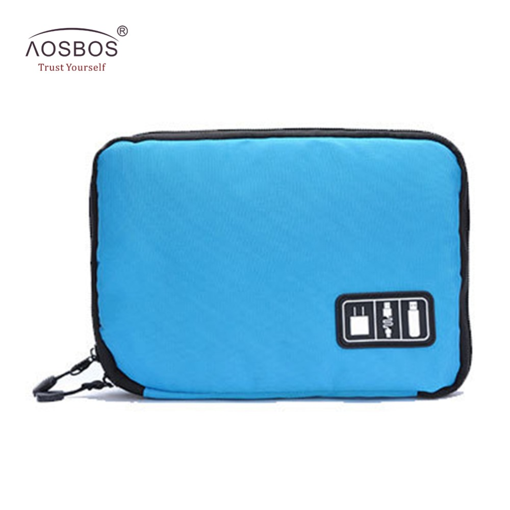 Aosbos Electronic Accessories Travel Bag Women Zipper Digital Cable Bag Men Hard Drive Organizer For Earphone USB Cables SD Card