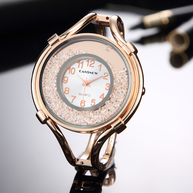 2018 Luxury Brand Women Bracelet Watches Ladies Fashion Rose Gold Dress Wrist Wa