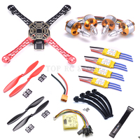 F450 PCB Frame Kit CC3D EVO Flight Controller Board XXD A2212 1000KV Motor 30A ESC 1045 Props For Quadcopter