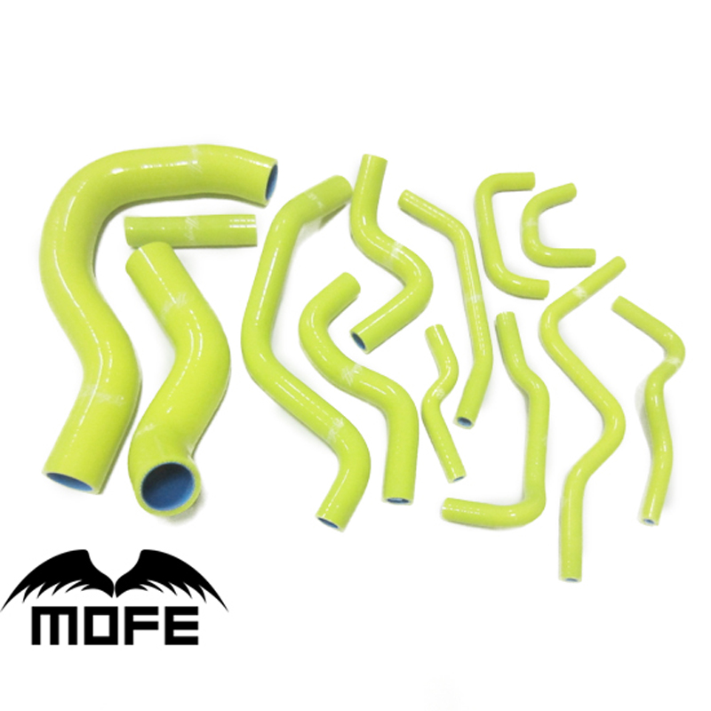 MOFE Original Logo Silicone Heater Hose For Civic EP3 Car K20A2 TYPE R 01-05 White Saffron Yellow Red Purple Pink Blue Black цены онлайн