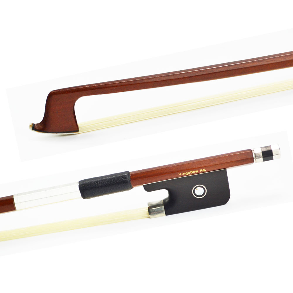 VingoBow 310M VIOLA BOW Brazilwood Stick Ebony Frog Nickel Silver Mounted Natural White Mongolia Horsehair Violin Parts Accessories