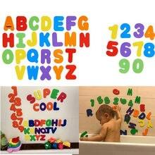 36 шт./компл. буквенно-цифровые буквы, пазл для ванны EVA, Детские Игрушки для ванны, новые Ранние развивающие Игрушки для ванны, забавная водян...