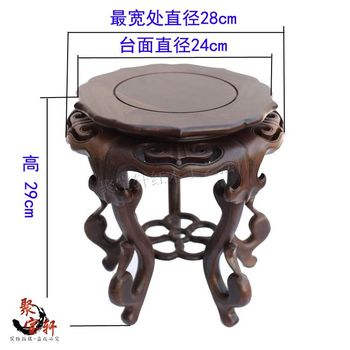 black catalpa wood vases, flower miniascape of base of Buddha base Special offer solid wood carving household act the role ofing base on the green sandalwood carvings handicraft furnishing articles kettle pot of buddha aquarium household act the role ofing