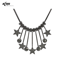 K155 Fashion Vintage Rhinestone Star Chokers Necklace Charm Alloy Pendant & Necklace for Woman Gift Jewlery Accessories