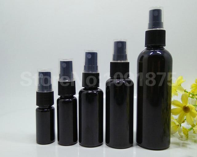 50 個 10 ミリリットル 20 ミリリットル 30 ミリリットル 50 ミリリットル 100 ミリリットル黒プラスチックスプレーボトル黒スプレー香水化粧品容器ダーク色