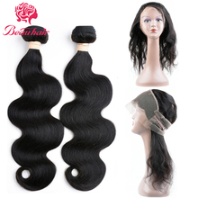 Beauhair Peruvian Body Wave 2 Bundles With 360 Free Part Lace Frontal Closure Unprocessed Human Hair Extensions