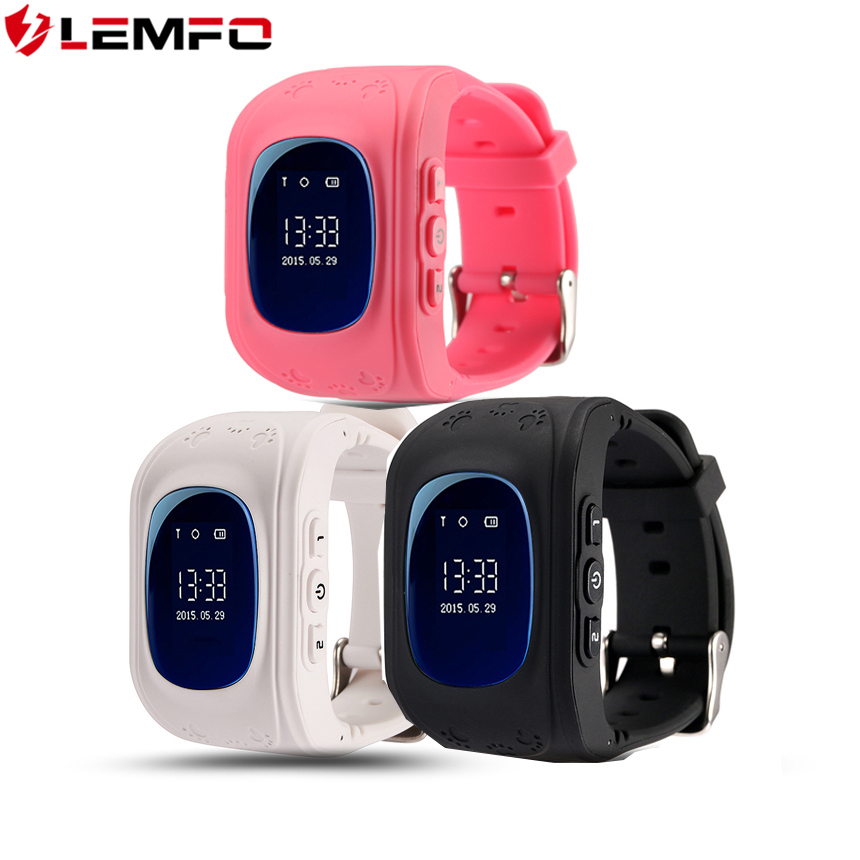 LEMFO Q50 GPS Smart Kid Safe Smart Watch SOS Tracker for Child Anti Lost Wearable Baby